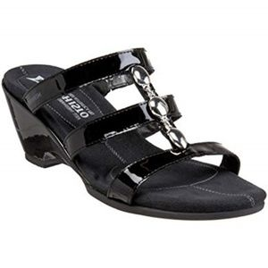 Mephisto Cataron Wedge Sandal Black Jewel Strappy